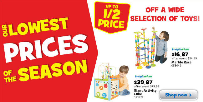 Toys R Us Lowest Prices of the Season (Oct 4-10)