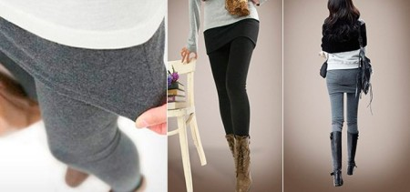 Two Pairs of Fall Stretch Legging Skirts
