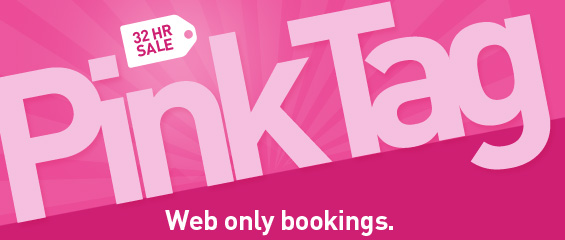 WestJet 32 Hour Pink Tag Sale - Extra 30 Off Select US, Mexico and Caribbean Destinations (Book by Oct 4)