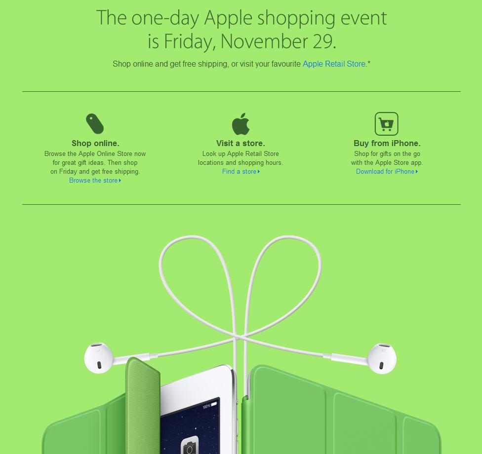 Apple Black Friday 1-Day Shopping Event (Nov 29)