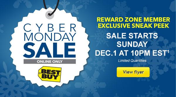 Best Buy Cyber Monday Sale Online Only - Sneak Peek Flyer