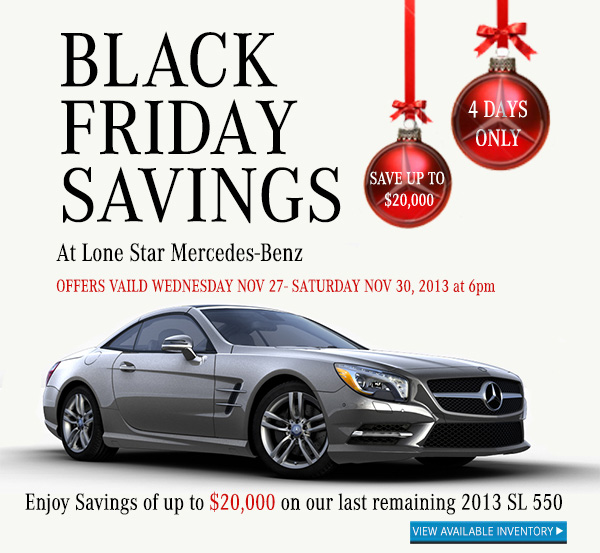 black friday savings from lone star mercedes benz beyond