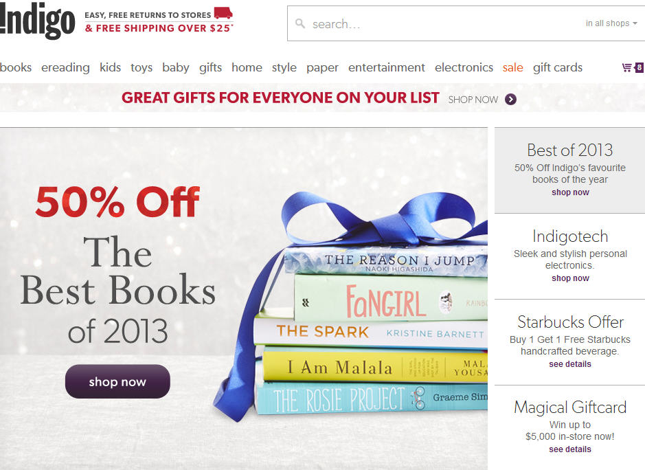 Chapters Indigo Extra $5 Off Promo Code + Free Shipping Pic