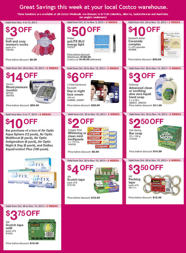 Costco Weekly Handout Instant Savings Coupons WEST (Nov 4-10)