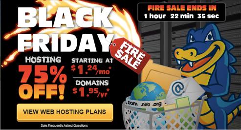 HostGator Black Friday - 75 Off All Web Hosting Packages (Nov 29 - Dec 2)