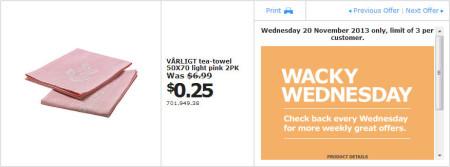 IKEA - Calgary Wacky Wednesday Deal of the Day (Nov 20) A
