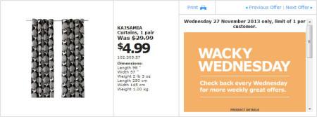 IKEA - Calgary Wacky Wednesday Deal of the Day (Nov 27) A