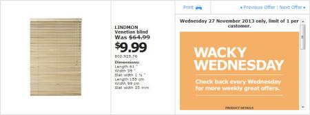 IKEA - Calgary Wacky Wednesday Deal of the Day (Nov 27) B