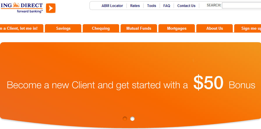 ING Direct - FREE $50 Holiday Bonus when you Open an Account! (Until Dec 31)