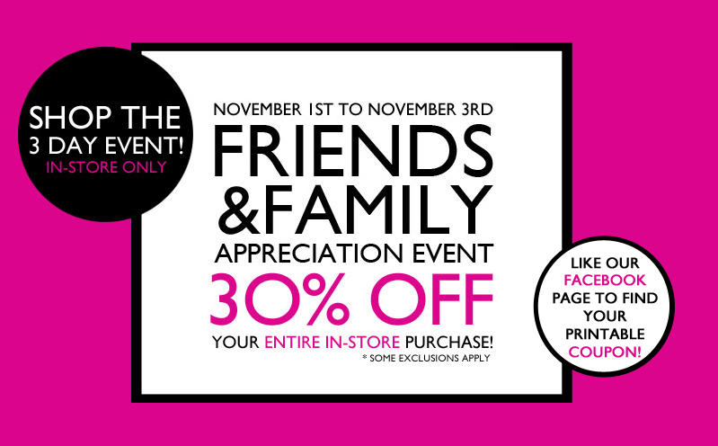 Nine West Friends & Family Sale - 30 Off Entire In-Store Purchase (Nov 1-3)