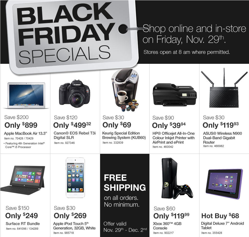 Staples Black Friday 2013 Sneak Peak Preview (Nov 29 - Dec 1)