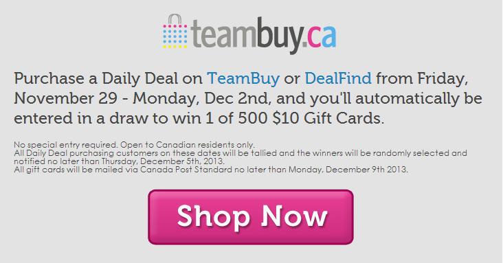 TeamBuy Black Friday & Cyber Monday - Gift Card Giveaway (Nov 29 - Dec 2)