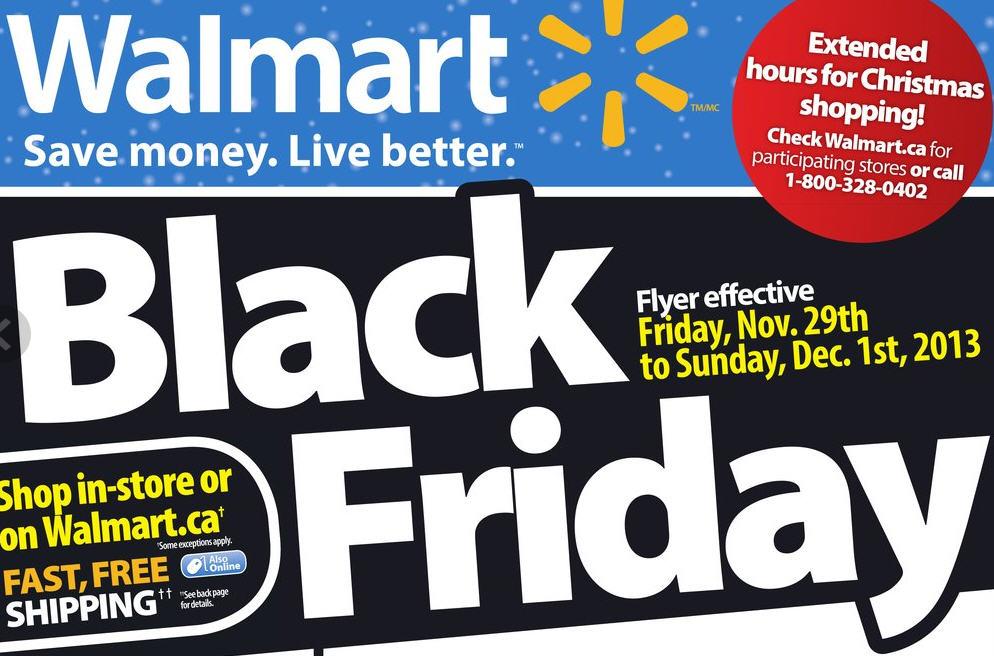 Walmart Black Friday Sneak Peak Flyer (Nov 29 - Dec 1)