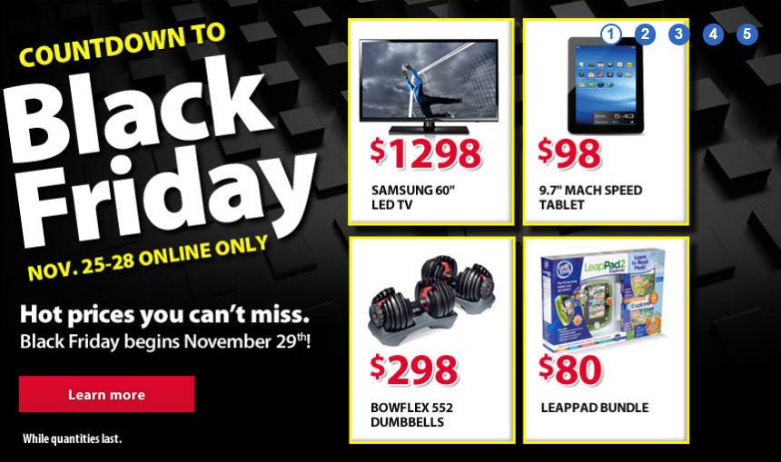 Walmart Countdown to Black Friday (Nov 25-28)