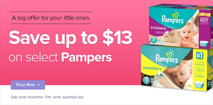 Well Save up to $13 Off on select Pampers Diapers (Until Nov 10)