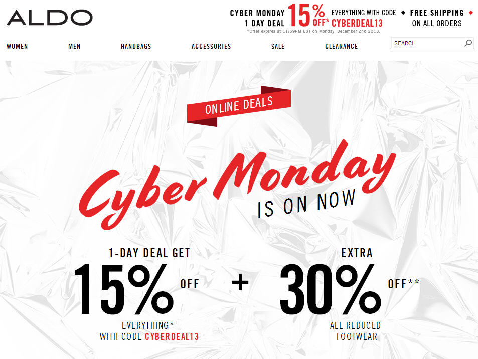 Aldo Shoes Extra 15 Off Everything + Free Shipping (Dec 2)