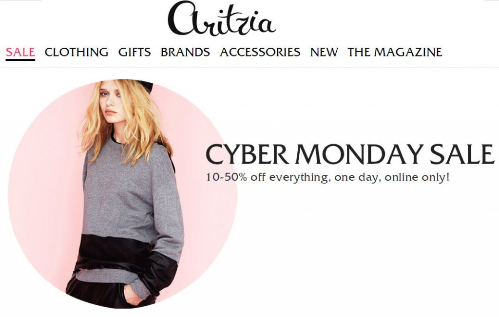 Aritzia Cyber Monday Sale - 10-50 Off Everything Online Only (Dec 2)