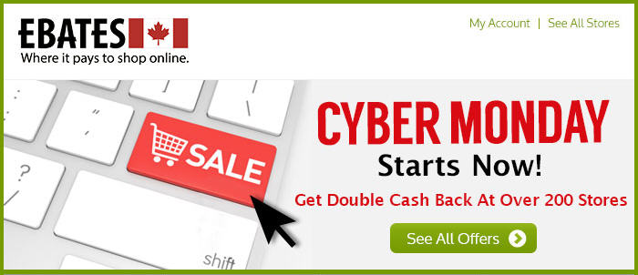 Ebates Cyber Monday - Get Double Cash Back at Over 200 Stores - Today Only (Dec 2)