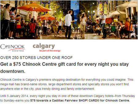 Expedia Free $75 Chinook Gift Card for every Night you stay at Downtown Hotel (Book by Jan 5)