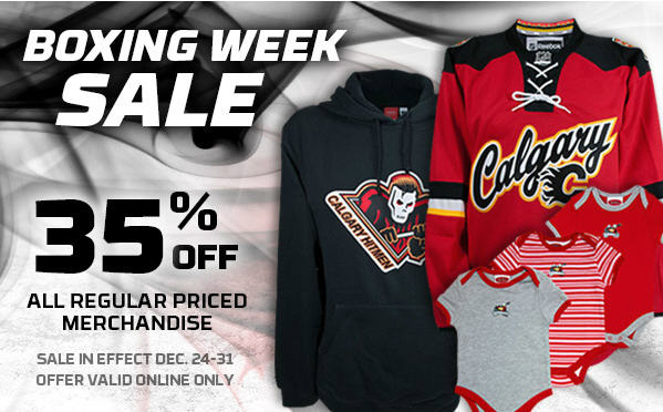 Calgary Flames FanAttic Boxing Week Sale - 35% Off All Regular Priced Merchandise - Online Only (Dec 24-31) - Calgary Deals Blog & Calgary Flames FanAttic: Boxing Week Sale - 35% Off All Regular ...