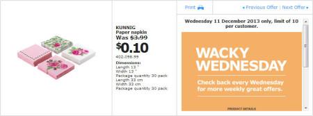 IKEA - Calgary Wacky Wednesday Deal of the Day (Dec 11) A