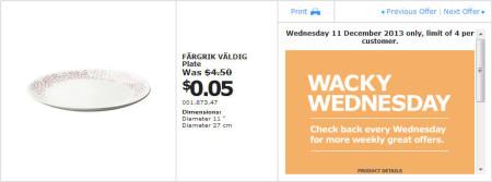 IKEA - Calgary Wacky Wednesday Deal of the Day (Dec 11) D