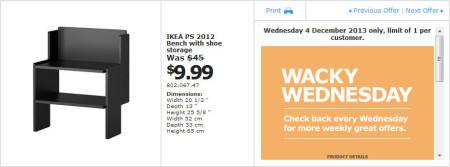 IKEA - Calgary Wacky Wednesday Deal of the Day (Dec 4) A
