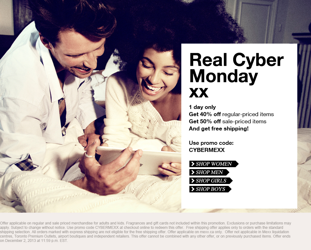 Mexx Cyber Monday - 40 Off Regular Priced Items 50 Off Sale Items + Free Shipping (Dec 2)
