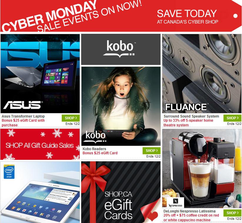 Shop Cyber Monday $25 Free Sign-Up Credit + $25 PayPal Credit + 20 Ebates Cash Back Offer