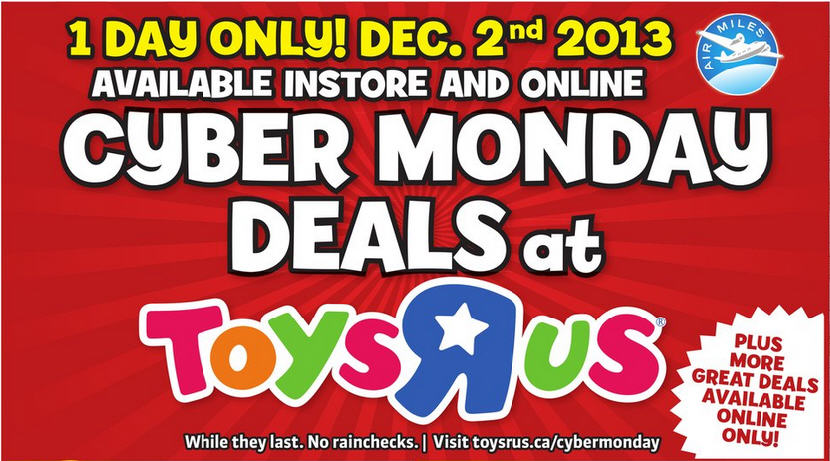 Toys R Us Cyber Monday Deals - Online and In-Store (Dec 2)