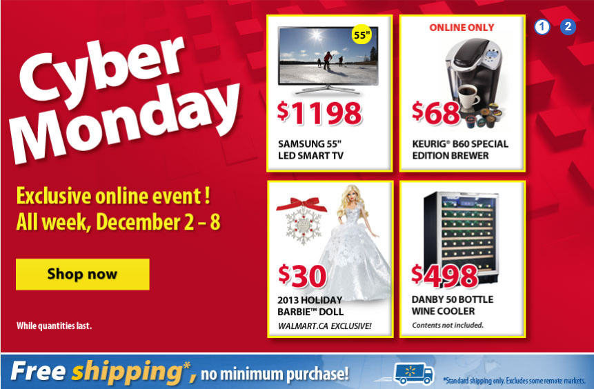 Walmart Cyber Monday Sale - Exclusive Online Only Event (Dec 2-8)