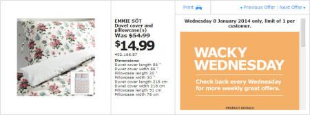 IKEA - Calgary Wacky Wednesday Deal of the Day (Jan 8)