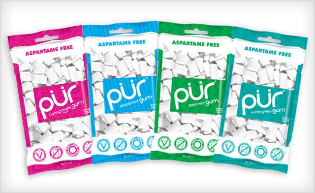 $24 for 10 Bags of Aspartame-Free PÜR Gum