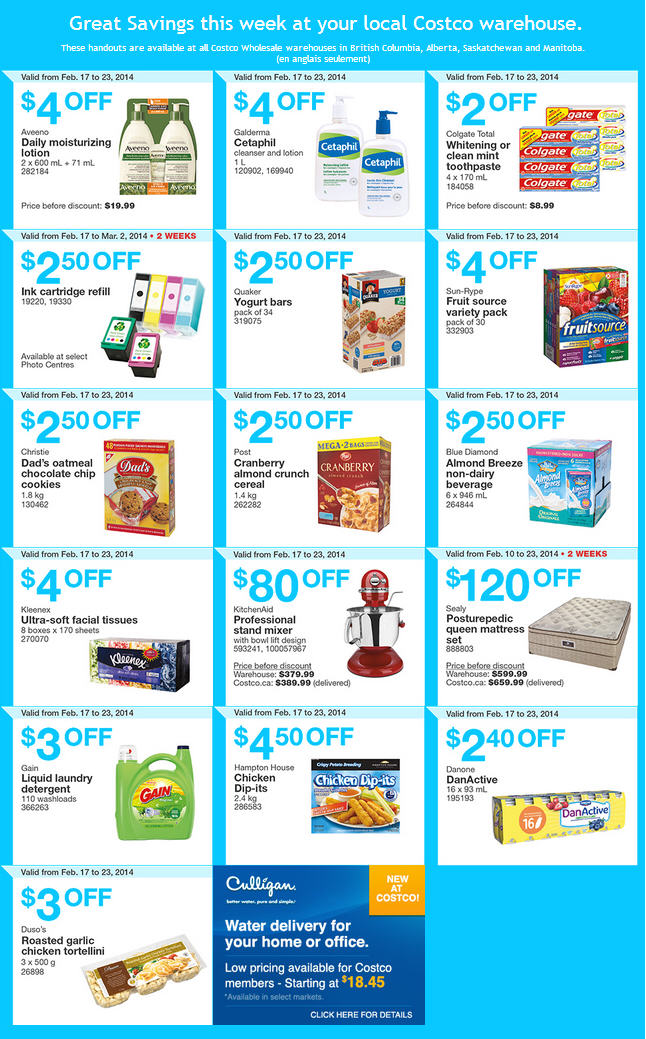 Costco Weekly Handout Instant Savings Coupons West (Feb 17-23)