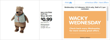 IKEA - Calgary Wacky Wednesday Deal of the Day (Feb 12) C