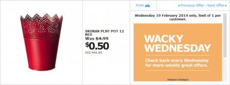 IKEA - Calgary Wacky Wednesday Deal of the Day (Feb 19) B
