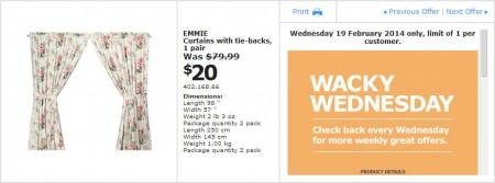 IKEA - Calgary Wacky Wednesday Deal of the Day (Feb 19) C