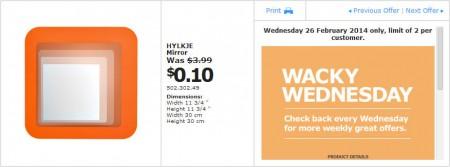 IKEA - Calgary Wacky Wednesday Deal of the Day (Feb 26) B