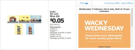 IKEA - Calgary Wacky Wednesday Deal of the Day (Feb 5) A