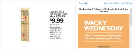 IKEA - Calgary Wacky Wednesday Deal of the Day (Feb 5) B