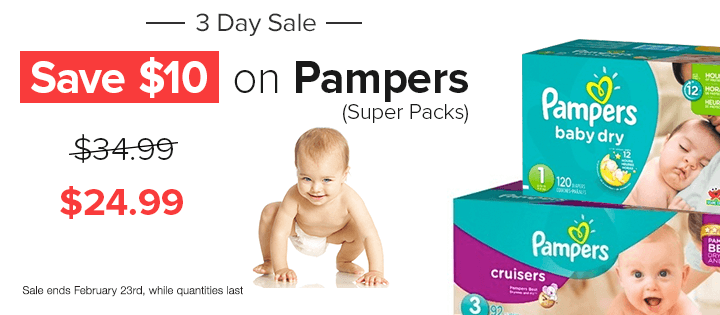 Well Save $10 Off Pampers Baby Diapers (Feb 21-23)