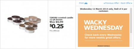 IKEA - Calgary Wacky Wednesday Deal of the Day (Mar 12) A
