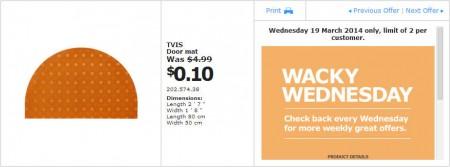 IKEA - Calgary Wacky Wednesday Deal of the Day (Mar 19) A