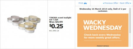 IKEA - Calgary Wacky Wednesday Deal of the Day (Mar 26) A