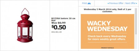 IKEA - Calgary Wacky Wednesday Deal of the Day (Mar 5) B