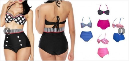 TeamBuy Products - $18 for a Vintage Pin-Up High Waisted Swimsuit (67 Off)