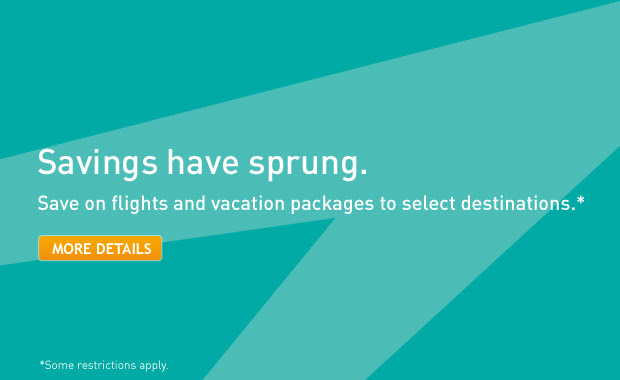 WestJet Save on Flights and Vacation Packages to Select Destinations (Book by Mar 13)