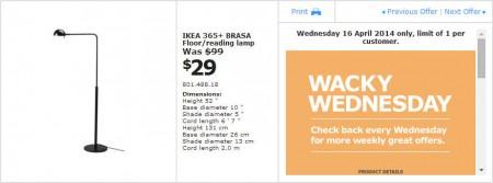 IKEA - Calgary Wacky Wednesday Deal of the Day (Apr 16) A
