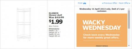 IKEA - Calgary Wacky Wednesday Deal of the Day (Apr 16) B