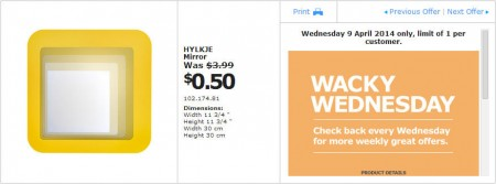IKEA - Calgary Wacky Wednesday Deal of the Day (Apr 9) A